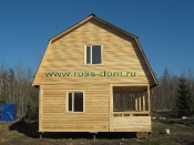 Дом 6х6 террасса 2х6 ломаная крыша